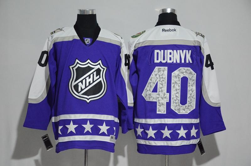 Wild 40 Devan Dubnyk Purple Central Division 2017 NHL All-Star Game Premier Jersey