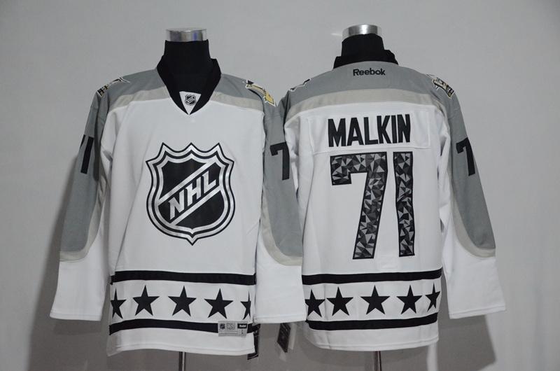 Penguins 71 Evgeni Malkin White Metropolitan Division 2017 NHL All-Star Game Premier Jersey