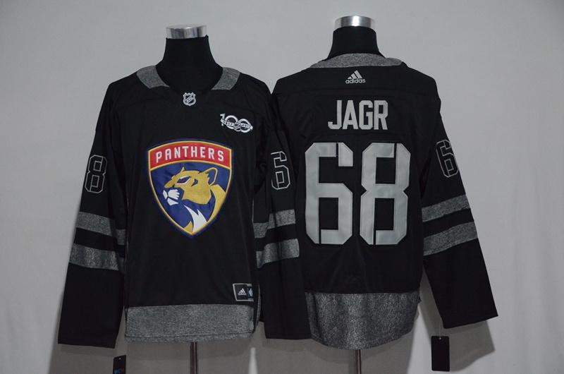 Panthers 68 Jaromir Jagr Black 1917-2017 100th Anniversary Adidas Jersey