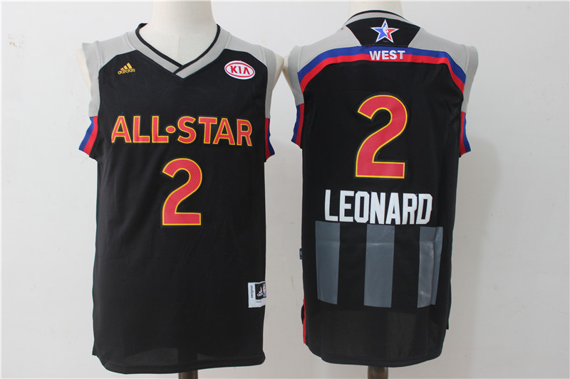 Spurs 2 Kawhi Leonard Charcoal 2017 NBA All-Star Game Swingman Jersey