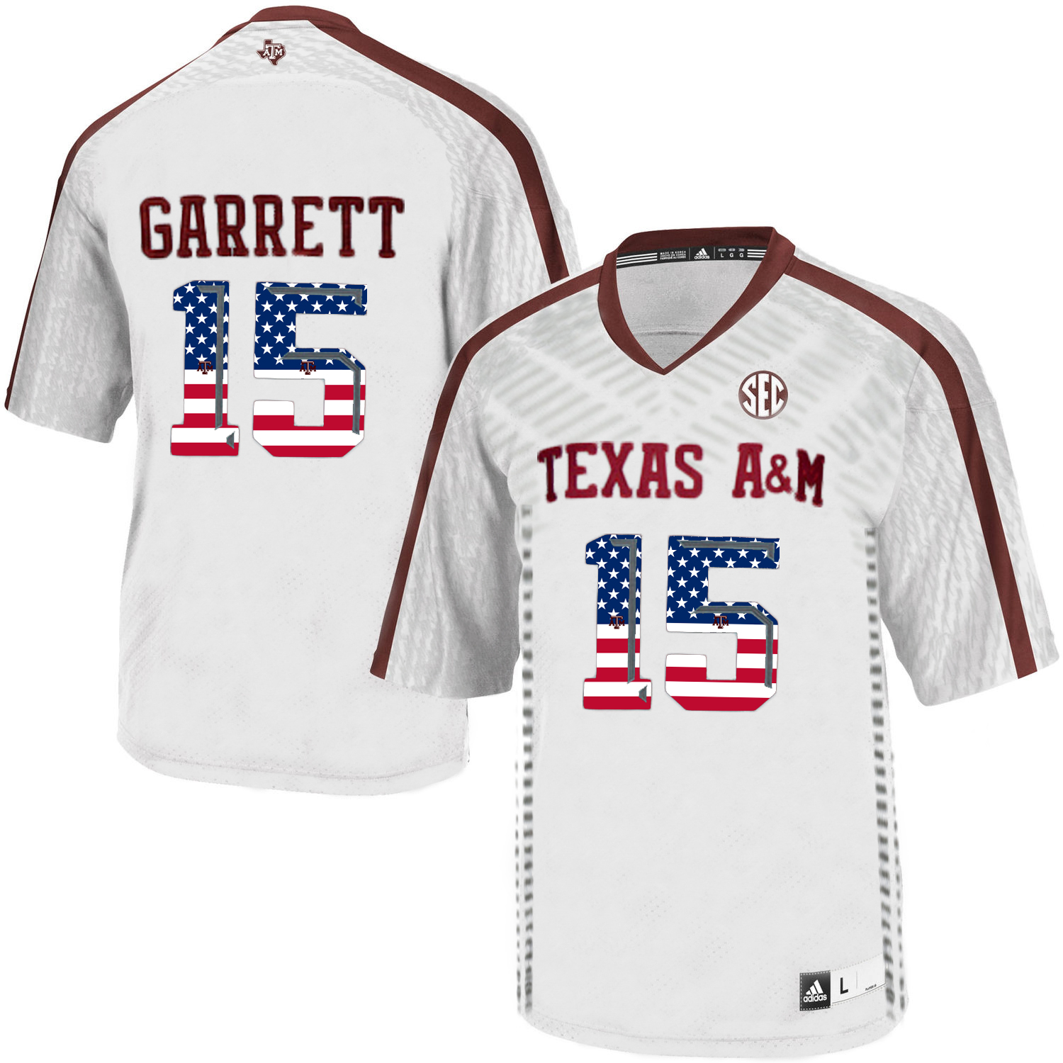 Texas A&M Aggies 15 Myles Garrett White College Football Jersey