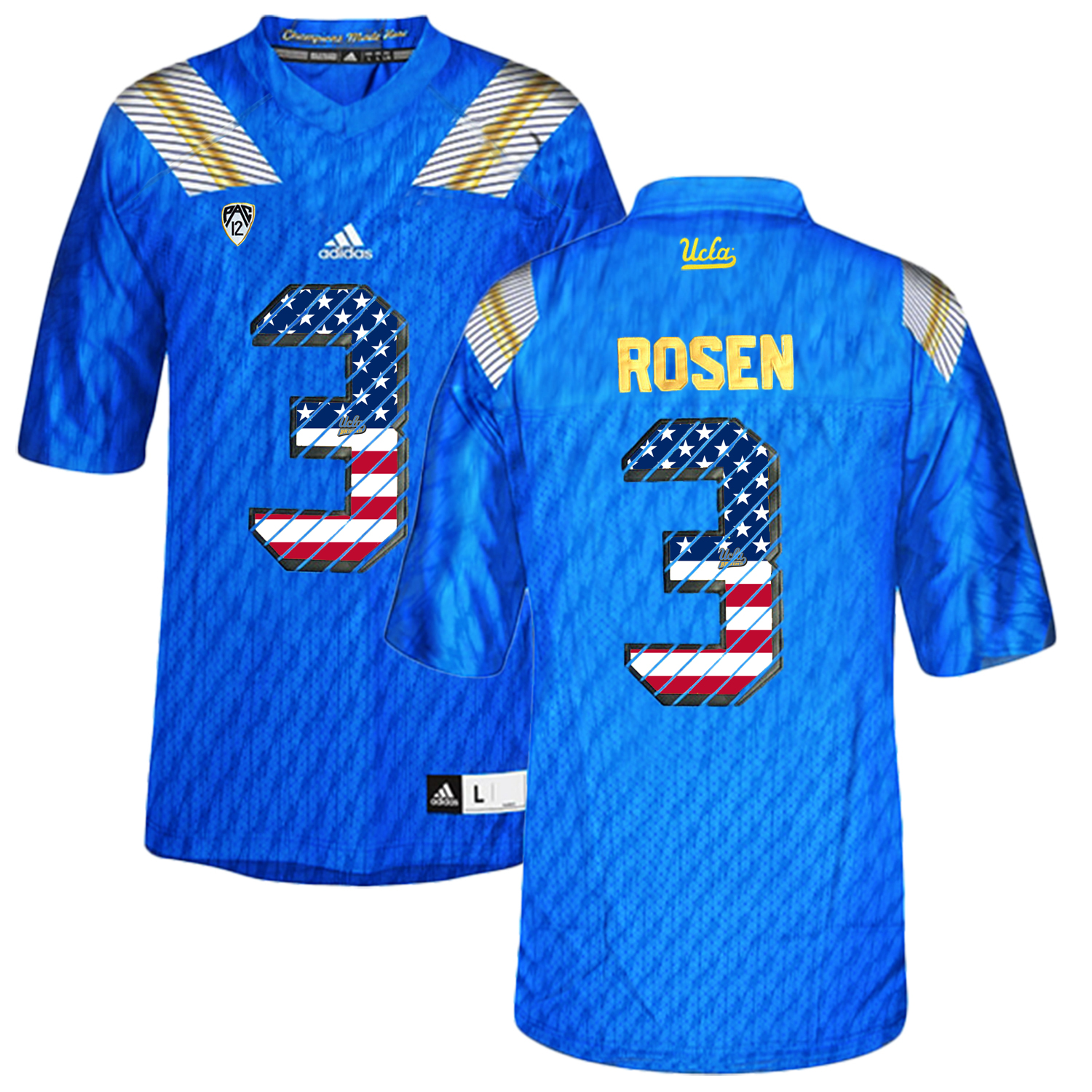 UCLA Bruins 3 Josh Rosen Blue College Football Authentic Jersey Blue
