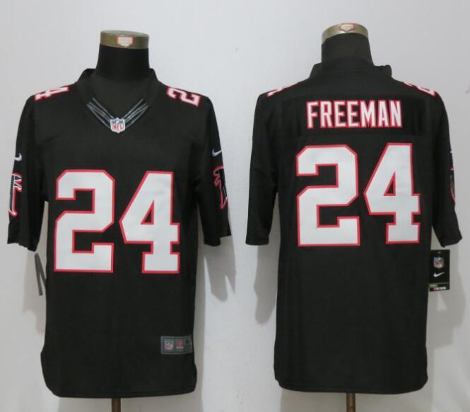 Nike Falcons 24 Devonta Freeman Black Limited Jersey