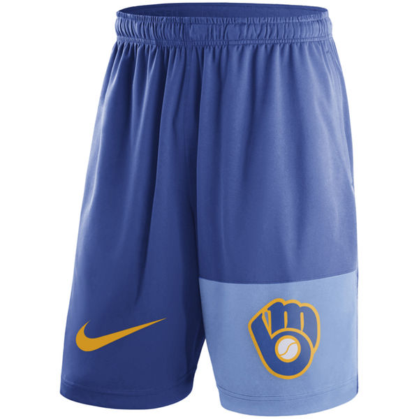 Men's Milwaukee Brewers Nike Royal Cooperstown Collection Dry Fly Shorts