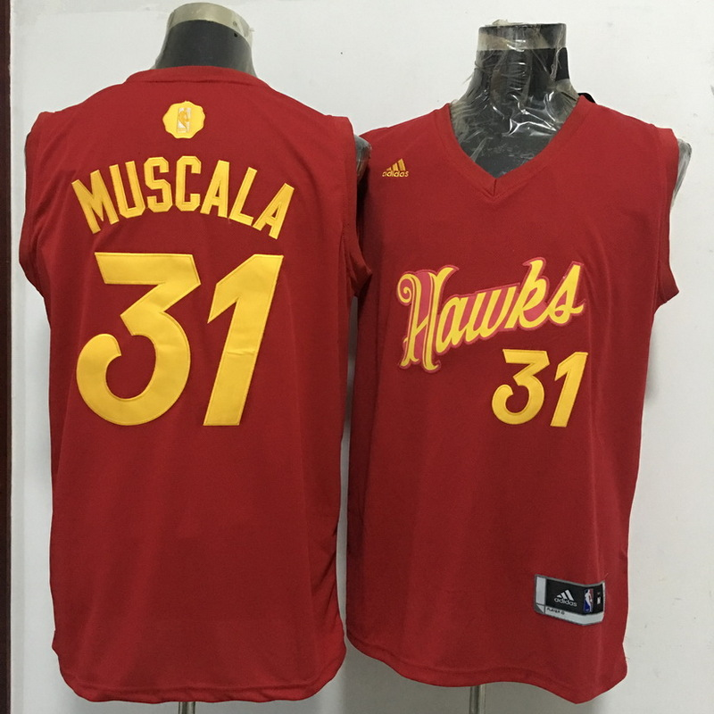 Hawks 31 Mike Muscala Red 2016 Christmas Day Swingman Jersey