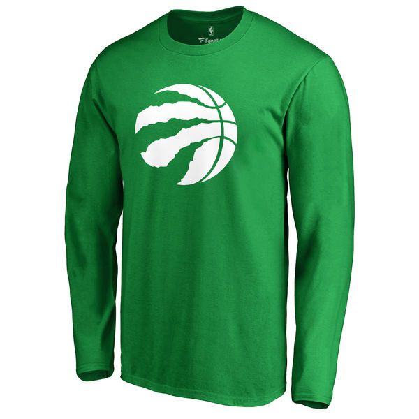 Toronto Raptors Fanatics Branded Kelly Green St. Patrick's Day White Logo Long Sleeve T-Shirt
