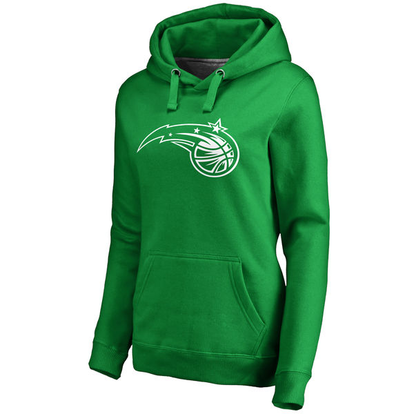Orlando Magic Fanatics Branded Women's Kelly Green St. Patrick's Day White Logo Pullover Hoodie