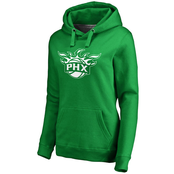 Phoenix Suns Fanatics Branded Women's Kelly Green St. Patrick's Day White Logo Pullover Hoodie