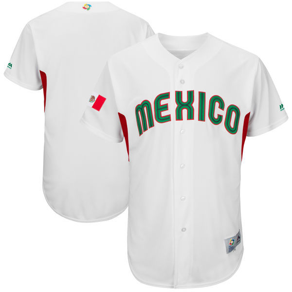Men's Mexico Baseball Majestic White 2017 World Baseball Classic Authentic Team Jersey