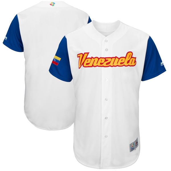 Men's Venezuela Baseball Majestic White 2017 World Baseball Classic Authentic Team Jersey