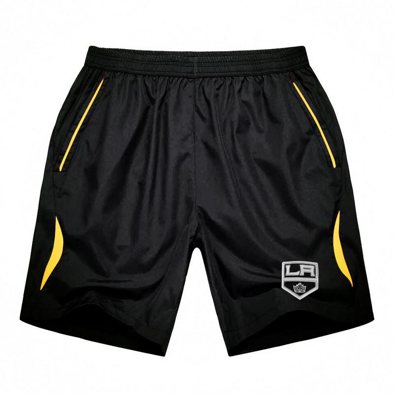 Men's Los Angeles Kings Black Gold Stripe Hockey Shorts