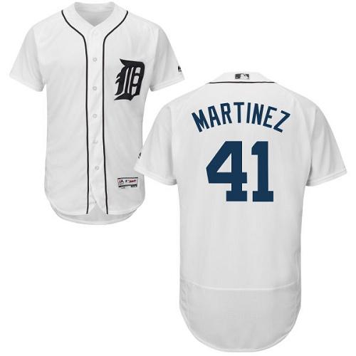 Tigers 41 Victor Martinez White Flexbase Jersey