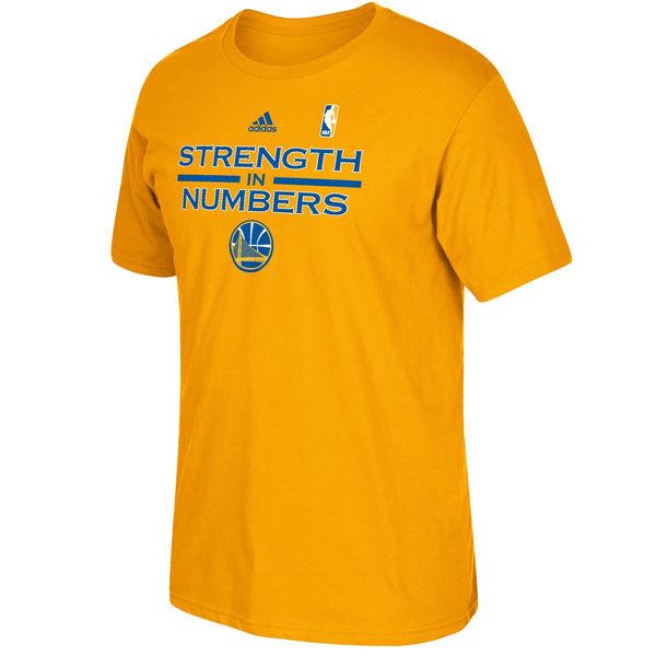 Men's Golden State Warriors Gold Playoffs Slogan T-shirt