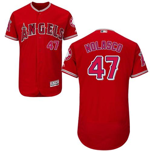 Angels 47 Ricky Nolasco Red Flexbase Jersey