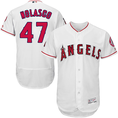 Angels 47 Ricky Nolasco White Flexbase Jersey