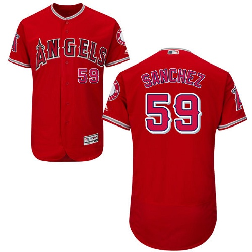 Angels 59 Tony Sanchez Red Flexbase Jersey