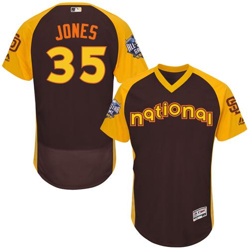 Padres 35 Randy Jones Brown 2016 MLB All Star Game Flexbase Batting Practice Player Jersey