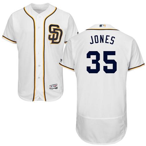 Padres 35 Randy Jones White Flexbase Jersey