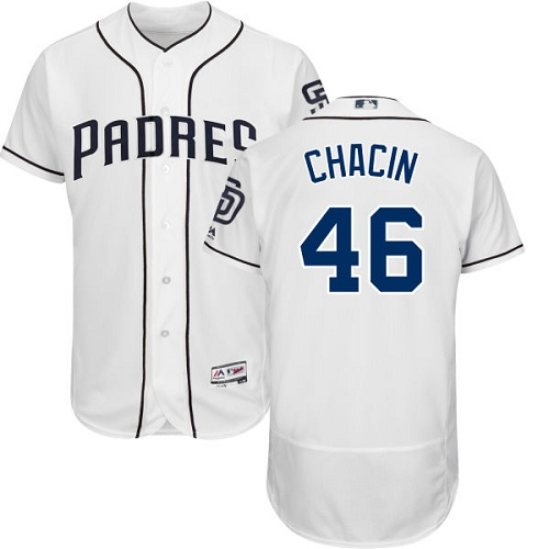 Padres 46 Jhoulys Chacin White Flexbase Jersey