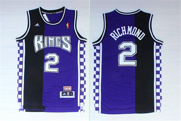 Kings 2 Mitch Richmond Black & Purple Hardwood Classics Jersey