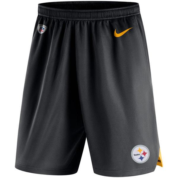 Men's Pittsburgh Steelers Nike Black Knit Performance Shorts