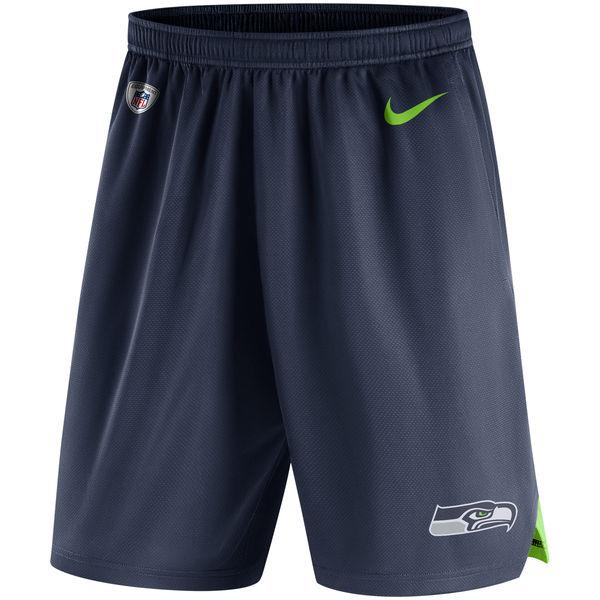 Men's Seattle Seahawks Nike College Navy Knit Performance Shorts