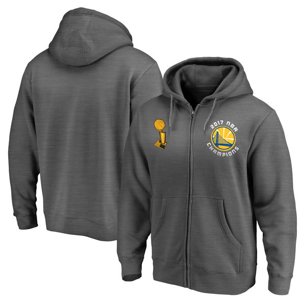 Golden State Warriors 2017 NBA Champions Charcoal Men's Pullover Hoodie