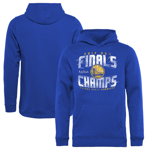 Golden State Warriors 2017 NBA Champions Royal Men's Pullover Hoodie3
