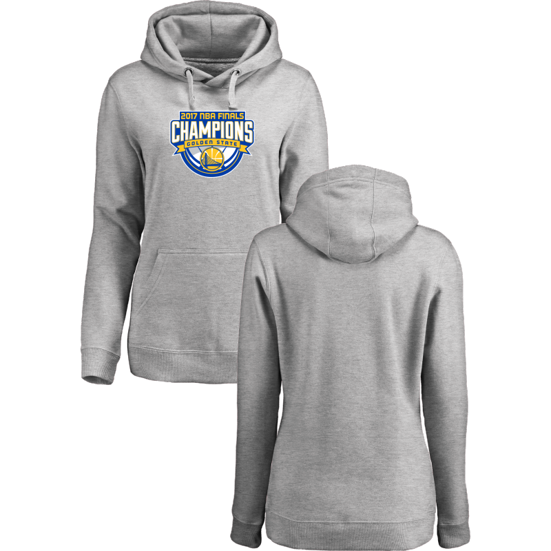 Golden State Warriors 2017 NBA Champions Gray Women's Pullover Hoodie