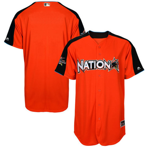 Men's National League Majestic Orange 2017 MLB All-Star Game Authentic On-Field Home Run Derby Team Jersey
