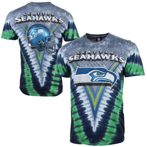 Seattle Seahawks Tie-Dye Premium Men's T-Shirt