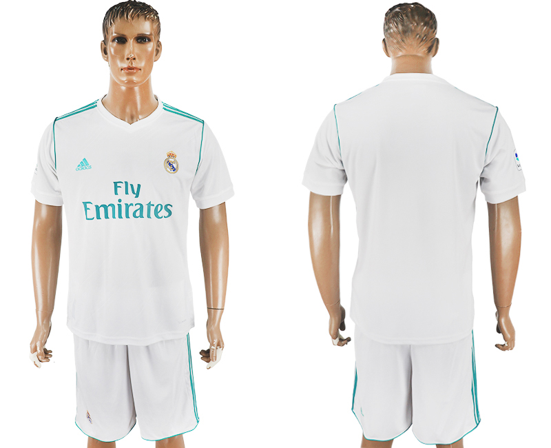 2017-18 Real Madrid Home Soccer Jersey