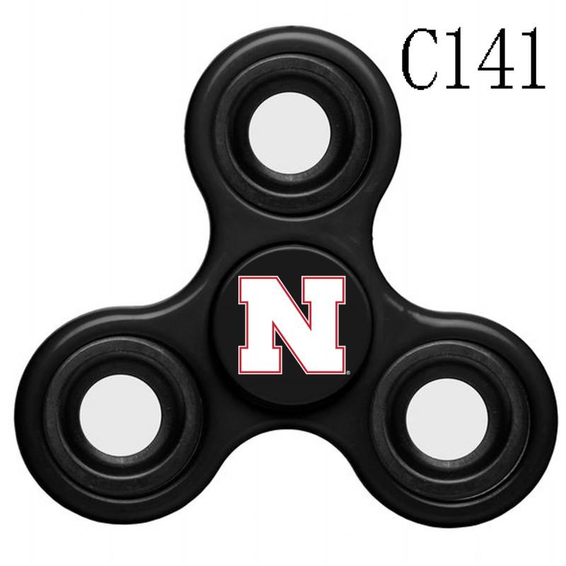 Nebraska Cornhuskers Team Logo Black 3 Way Fidget Spinner