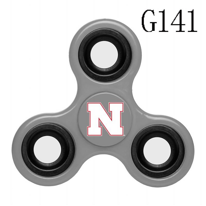 Nebraska Cornhuskers Team Logo Gray 3 Way Fidget Spinner