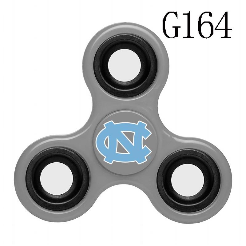 North Carolina Tar Heels Team Logo Gray 3 Way Fidget Spinner
