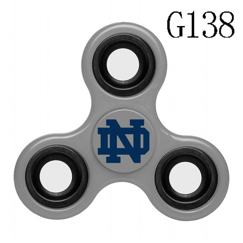 Notre Dame Fighting Irish Team Logo Gray 3 Way Fidget Spinner