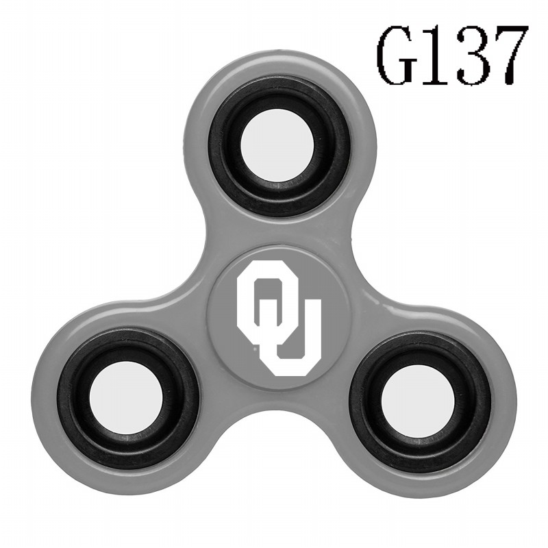 Oklahoma Sooners Team Logo Gray 3 Way Fidget Spinner