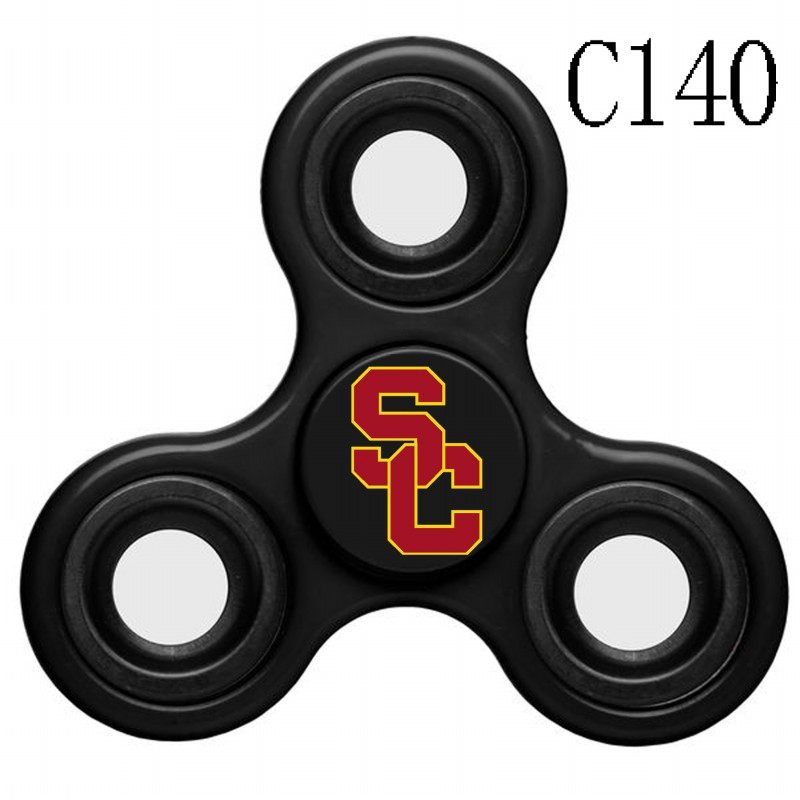 Southern California Trojans Team Logo Black 3 Way Fidget Spinner