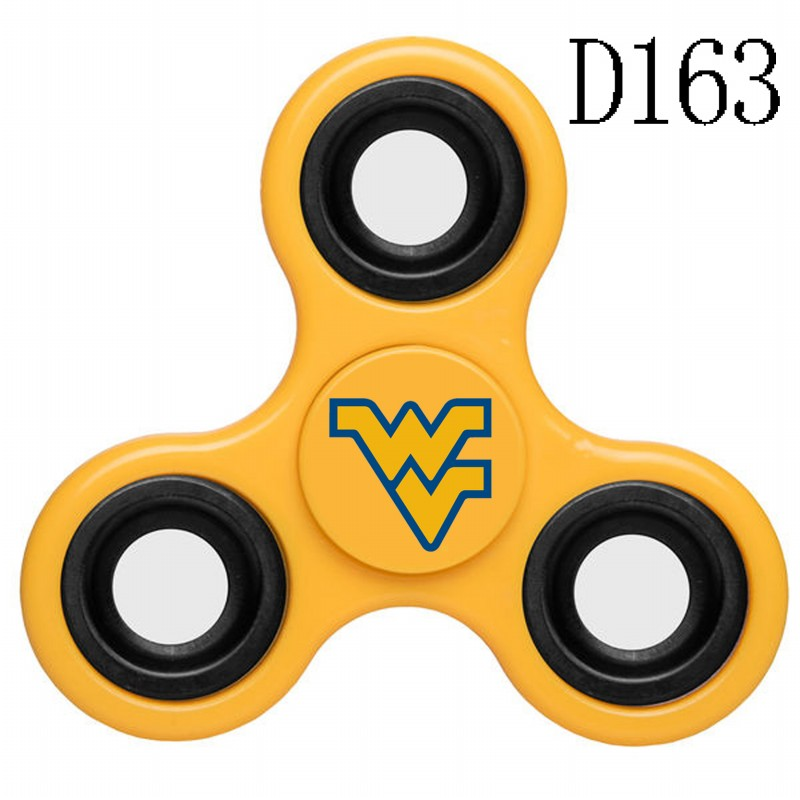 West Virginia Mountaineers Team Logo Yellow 3 Way Fidget Spinner