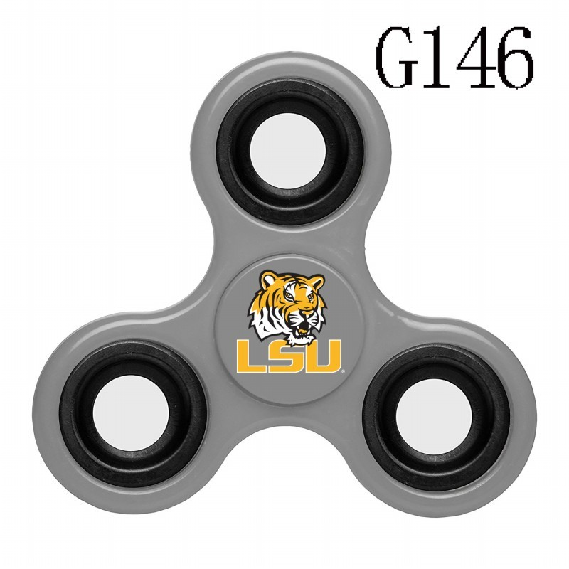 LSU Tigers Team Logo Gray 3 Way Fidget Spinner