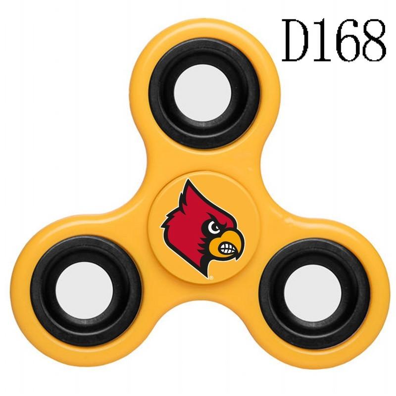 Louisville Cardinals Team Logo Yellow 3 Way Fidget Spinner