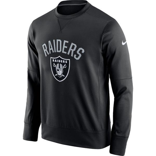 Men's Oakland Raiders Nike Black Sideline Circuit Performance Sweatshirt