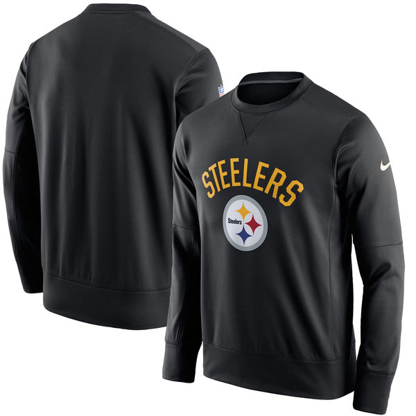 Men's Pittsburgh Steelers Nike Black Sideline Circuit Performance Sweatshirt