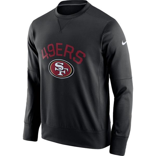 Men's San Francisco 49ers Nike Black Sideline Circuit Performance Sweatshirt
