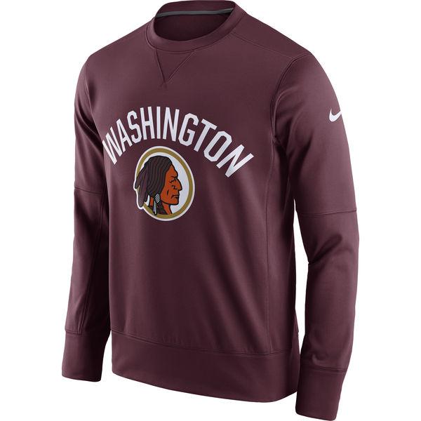 Men's Washington Redskins Nike Burgundy Circuit Alternate Sideline Performance Sweatshirt