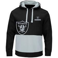 Oakland Raiders Black & Gray Split All Stitched Hooded Sweatshirt