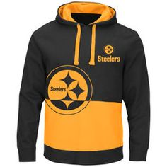 Pittsburgh Steelers Black & Gold Split All Stitched Hooded Sweatshirt