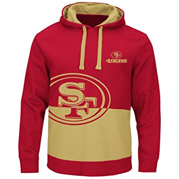 San Francisco 49ers Red & Gold Split All Stitched Hooded Sweatshirt