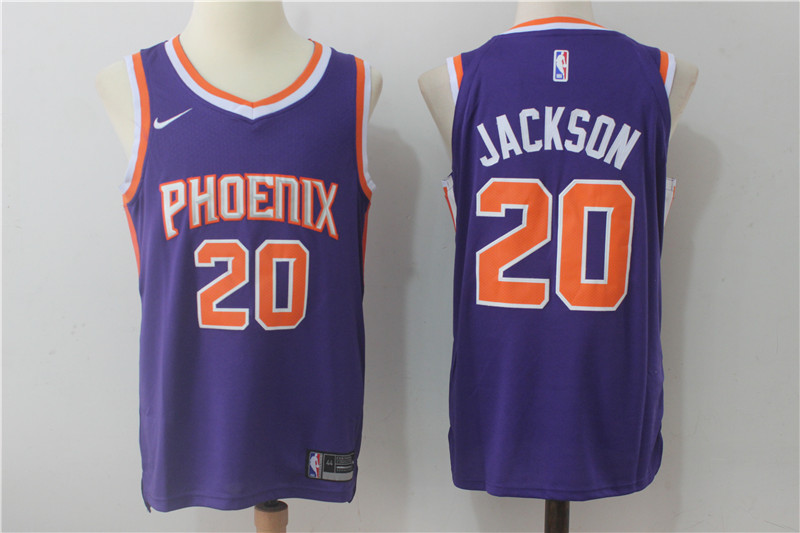 Suns 20 Josh Jackson Purple Nike Authentic Jersey(Without Sponsor Logo)