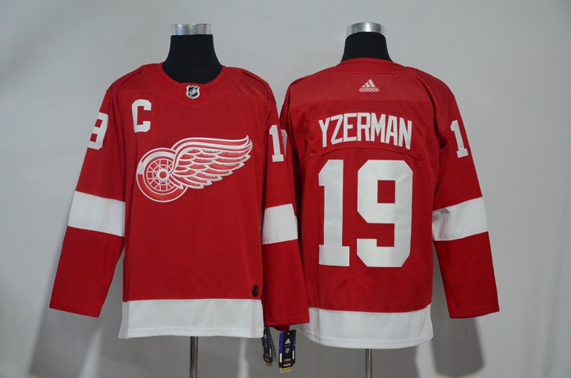 Red Wings 19 Steve Yzerman Red Adidas Jersey